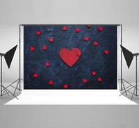 Wholesale black photo backdrop for sale - Group buy Kate Happy Valentine s Day Photography Backdrop Red Love Heart Photo Backdrops for Wedding Black Wall Background for Photography