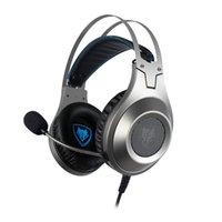 pc spiel weich großhandel-NUBWO N2D verdrahtete Spiel-Kopfhörer mit Mikrofon Stereo Noise Cancelling Kopfhörer Soft Light-weight-Kopfhörer für Telefon-PC-Spiel
