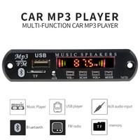 Wholesale music car speaker mp3 player resale online - 5 V Bluetooth Car Mp3 Player Modification Car Kit Wireless FM receiver Mp3 Player Decoder Board USB MM music Speaker