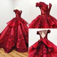vestido de lantejouas roxas doces 16 venda por atacado-2019 elegante árabe roxo escuro vestido de baile de tule vestidos de baile profundo decote em v lantejoulas doce 16 vestido de trem de varredura partido personalizado vestidos de noite