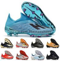 iç çizme toptan satış-2019 Sıcak X 19 + 19.1 FG Futbol Erkek Futbol İç oyun Yönlendirme Paketi Koyu Senaryo 19 + x Futbol Çizmeler futbol Ayakkabıları Cleats Boyutu ABD 6.5-11