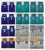 Wholesale charlotte gold resale online - Charlotte Hornets Throwback Jersey Tyrone Muggsy Bogues White Dell Curry Larry Johnson Kemba Walker Alonzo Mourning Vintage Jersey