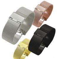 relógio elegante da engrenagem da galáxia venda por atacado-Substituir cinta para samsung gear sport s2 clássico samsung galaxy watch 42mm milanese pulseira de malha de aço inoxidável fivela smart watch pulseira