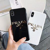 teléfono celular pieza al por mayor-Una pieza de lujo caja del teléfono del diseñador para iphone 6/7/8 más xs max / XR TPU chapado de oro de alta calidad cubierta del teléfono celular stunk envío de la gota hacia atrás