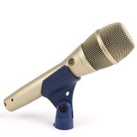micrófono clásico al por mayor-KSM8 KSM9 Clásico Micrófono con cable Profesional de mano Karaoke Canto vocal Dinámico Podcast Mic por DHL