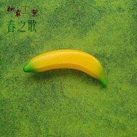spielzeug plastik bananen großhandel-Kind banane obst gemüse kunststoff toys modell simulation lebensmittel frühen pädagogischen kinder so tun spielhaus spielzeug bananen