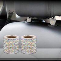 ingrosso auto in cuscino sedile in pelle bianca-Generico strass auto poggiatesta brillante Set - 2pcs per coppia, multi colori per il vostro regalo Nolvety scelta