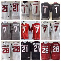 331bc12be Mens South Carolina Gamecocks Mike Davis Stitched Name&Number American  College Football Jersey Size S-3XL