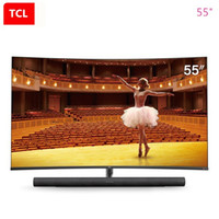 Wholesale tv 55 led resale online - TCL inch curved TV artificial intelligence K ultra hd LED LCD TV high color gamesharman kardon audio TV