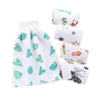 Wholesale baby waterproof reusable cotton diapers resale online - Baby Diapers Waterproof Cotton Baby Nappies Reusable Diaper Cover Newborn Nappy Changing Washable