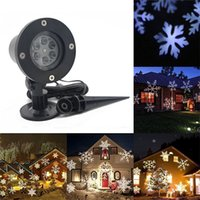 Wholesale projection christmas lights resale online - Plastic Outdoor Snowflake Lamp LED Lighting Waterproof Lawn Christmas Card Projection Holiday Party Celebration Supplies High Quality mx h