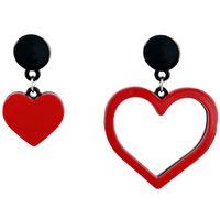 ingrosso orecchini acrilici rossi-Orecchini acrilici rossi asimmetrici della signora a forma di cuore di modo acrilico