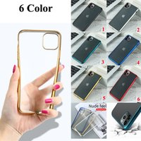 Wholesale clear back plate iphone online – custom 200pcs Matte Plating Phone Case For iPhone Pro Max Cases For iPhone Plus X XS XR Xs Max Ultra Thin Clear Back Cover