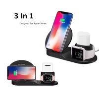 ingrosso orologi universali-Wireless Charger 3 in 1 per Apple Osservare Iphone airpods stazione di ricarica veloce con l'imballaggio al dettaglio
