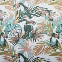 Wholesale bird decor resale online - Contemporary Rainforest Droll Bird Print Chair Sofa Woven Home Deco Decorative Curtain Garment Pillow Fabrics cm Sell by meters