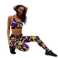 kadın için giyim toptan satış-Ethika Kadın Eşofman Mahsul Tops Pantolon 2 adet Tasarımcı Slim Fit Spor Yoga Giyim Setleri Suits
