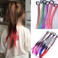 Wholesale braid hair elastic band for sale - Group buy New Girls Elastic Hair Band Rubber Band Hair Accessories Wig Ponytail Headband Kids Twist Braid Rope Headdress Hair Braider