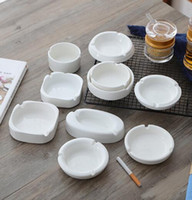 Wholesale european ashtray resale online - European Simple Modern White Ceramic Ashtray Hotel Hotel Restaurant Household