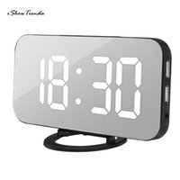 Wholesale led charger touch for sale - Group buy 1pc V mm Hour Modes LED Digital Alarm Clock With USB Port For Phone Charger Touch Activited Snooze