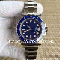 reloj de buceo hombre dial azul automatico al por mayor-Best Factory V8 Dial azul Automático Eta 2813 Movimiento Bisel de cerámica azul Calendario luminoso Relojes de pulsera Relojes de hombre Caja original
