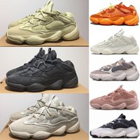Wholesale winter leather running shoes resale online - New Bone White Desert Rat Mens Designer Sneaker Kanye West s Blush Supermoon Yellow Utility Black Salt Cow Leather Sports Shoes