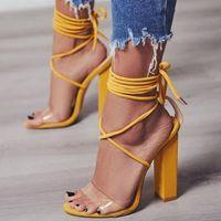 сарафан из слоновой кости оптовых-Туфли Летние туфли на высоком каблуке Сандалии из ПВХ Прозрачные женские каблуки Свадебная обувь Женская повседневная водонепроницаемая сандалия Feminina