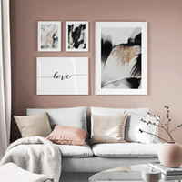 Wholesale painting color for living room resale online - Modern Abstract Color Block Love Quotes Wall Art Canvas Painting Nordic Posters And Prints Wall Pictures For Living Room Decor