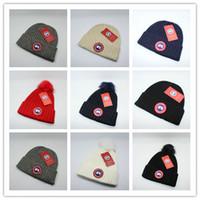 satılık boncuk şapkaları toptan satış-Üst Satış KANADA marka BEANIE erkekler örme şapka klasik spor kafatası kapaklar kadınlar casual açık GOOSE beanies