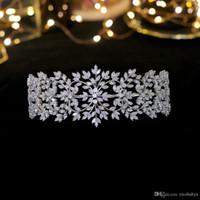 neue beliebte stirnbänder großhandel-Neue populäre Nachahmung Diamant-Tiara große Art und Weise Brautstirnband Echt Crown Zubehör Frauen Schmuck Kopfschmuck Braut-Haar