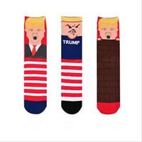 гетры для детской коленей оптовых-TRUMP прямые носки унисекс модели взрыва TRUMP носок личность вязаные хлопчатобумажные носки модные повседневные носки президентские выборы LT473
