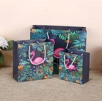 kosmetiktaschen verpackung groihandel-2019 neue 14 * 15 * 7cm Firebird Geschenkverpackungs-Papiertüte mit Griff Kosmetiktasche Kleidungsgeschenkverpackungs-Einkaufsgriffbeutel