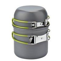 utensílios de acampamento portátil venda por atacado-Potenciômetro portátil ao ar livre do acampamento potenciômetro do piquenique do pote ds-101 para 1-2 pessoas