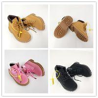bebek su geçirmez ayakkabılar toptan satış-Timberland Yeni marka çocuk kanvas ayakkabılar moda yüksek-düşük ayakkabı erkek ve kız spor tuval çocuk ayakkabı