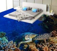 murales de tortuga al por mayor-[Autoadhesivo] 3D Turtle 1215 Floor Wallpaper Mural Wall Print Decal Murales de pared