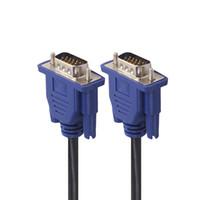 кабель vga для проектора оптовых-SZAICHGSI VGA Удлинительный кабель HD 15-контактный между мужчинами VGA Кабели Шнур Проводная линия Медный шнур для ПК Монитор компьютера Проектор 1,5 м