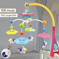 jouets rotatifs berceau achat en gros de-Lit Mobile musical Lit de Bell Hochet Support Rotating jouets à 0-12 mois Nouveau-né Enfants cadeau Baptême