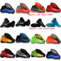 Wholesale soccer football boots soft ground for sale - Group buy 2018 mens soccer cleats Hypervenom Phantom III EA Sports FG soccer shoes soft ground football boots cheap Rising Fast Pack neymar boots new