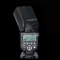 cámara flash yongnuo al por mayor-YONGNUO actualizado YN560 YN-560 III Inalámbrico LCD Flash Speedlite Linterna para cámara réflex digital Canon Nikon Pentax