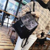 Wholesale mesh backpack new for sale - Group buy Nylon Cloth Bag Cover Diamond New Wild Trend Travel Bag Mesh Sequin Backpack Female Mochila Feminina Cute Backpack Women
