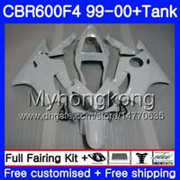 Wholesale 99 honda cbr f4 fairings resale online - ALL Gloss white Bodys Tank For HONDA CBR F4 FS CBR F4 CBR600F4 HM CBR600FS CBR600 F CBR600 F4 Fairing kit