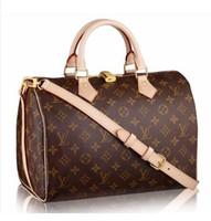 Wholesale glitter stones resale online - High quality oxidize cowhide speedy cm Hot Sell Fashion bag women bag Shoulder Bags Lady Totes handbags bags