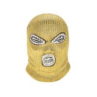 ingrosso stili di catena dell'oro 18k-Collana ciondolo CSGO hip-hop Mens stile punk lega in oro 18 carati placcato argento maschera ciondolo testa pendente catena cubana di alta qualità