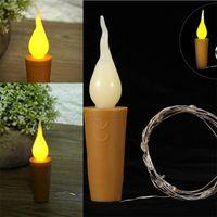 blauer stopper großhandel-Candle Bottle Stopper Lampe String LED Lichtquelle Rot Gelb Blau Grün Lichter Strings Eco Friendly 4 5qs2 L1