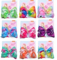 Wholesale plastic hair clips for kids for sale - Group buy Hot Sale quot Hair Bows For Girls WIth Clips Hairgrips Hair Accessories Kids Handmade Knot Jumbo Ribbed Ribbon JoJo Bows Hair Clips