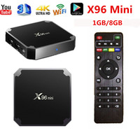 бесплатная доставка tv box оптовых-ГОРЯЧАЯ 1 ГБ 8 ГБ X96 мини ТВ Box Quad Core Smart 4K ТВ Box Amlogic s905W X96 мини потоковые коробки бесплатная доставка