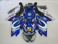 ingrosso aprilia rs 125-Kit carenatura iniezione per Aprilia RS125 06 07 08 09 10 11 RS 125 2006 2011 ABS blu carenature bianche set AA08