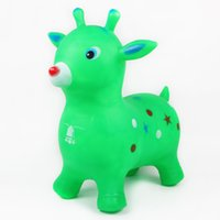 ingrosso vecchi giocattoli gonfiabili-Giocattoli per bambini Puzzle di sicurezza gonfiabile antideflagrante Modello distintivo I bambini tra i tre o i sei anni saltano il cavallo a volta