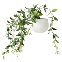 Wholesale flower plant pot wall stickers resale online - Artificial Flower Succulent Plant Refrigerator Sticker Bonsai Refrigerator Magnet Creative Fake Potted Plant Home Wall Decor