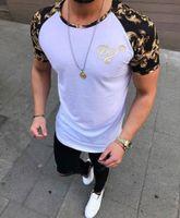 t-shirts de marque achat en gros de-Nouveau t-shirt pour hommes d'été couleur unie ourlet incurvé longue ligne camouflage hip hop t-shirt elong plaine kanye t-shirts hommes top