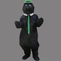 erwachsene kostüm tragen outfit großhandel-Erwachsene Größe Cartoon Party Schwarzbär Kostüm Weihnachten Cute Bear Maskottchen Outfit Halloween Chirastmas Party Kostüm Nach Maß